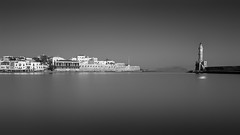 Old Venetian Harbour (Bo.Th) Tags: greece crete chania holidays travel town quiet water waterfront sea relax reflection romantic rocks structure sky history outdoor building silence view lighthouse light old monochrome landscape architecture seascape seaside dreaming calm