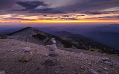 If We Were Stones (R82) [Explored 2018.08.19] (Darblanc ( http://darblanc.com )) Tags: canoneos7d mountains nature summer colour bluehour sunset clear clouds france frenchalps provence vaucluse montventoux