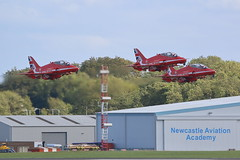 Red Arrows (Rob390029) Tags: raf royal air force red arrows bae british aerospace hawk t1 plane jet jets planes newcastle airport ncl egnt