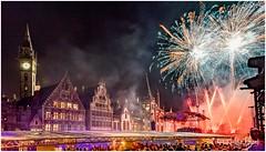 Impressions of OdeGand (RudyMareelPhotography) Tags: belgium europe flanders gent ghent graslei korenmarkt odegand fireworks flickrclickx flickr ngc