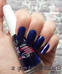 Esmalte Oceano, da Drica. (A Garota Esmaltada) Tags: agarotaesmaltada unhas esmaltes nails nailpolish manicure oceano drica blue azul