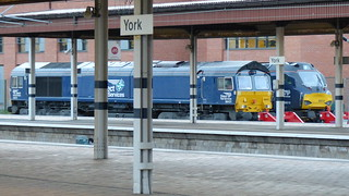 Numbers 66431 & 88010, Direct Rail Services Diesels @ York Railway Station