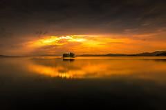 sunset 5179 (junjiaoyama) Tags: japan sunset sky light cloud weather landscape orange contrast color bright lake island water nature autumn fall calm dusk serene reflection