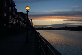 Sunset Preston Docks scenic
