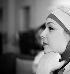 Ibtissem (frankprungnaud) Tags: femme woman magnifique voile noiretblanc bw portraiture portrait visage belle