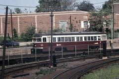 US PA Philadelphia SEPTA-PSTC Red Arrow 24 5-4-1974 69th Street (David Pirmann) Tags: pa pennsylvania philadelphia septa redarrow pstc philadelphiasuburbantransco interurban train trolley tram transit railroad