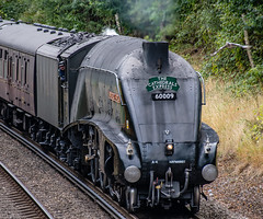 60009 Wokingham 21 August 2018 (8) (BaggieWeave) Tags: berkshire wokingham lswr lner a4 pacific 462 60009 unionofsouthafrica steamengine steamlocomotive steamtrain steam cathedralsexpress