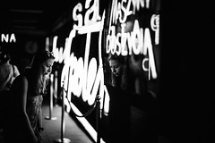 Neon 352.365 (ewitsoe) Tags: 50mm canoneos6dii city europe ewitsoe polska warszawa erikwitsoe poland summer urban warsaw neonmuseum monochrome blackandwhite mono museum neon signs afternoon woman girl lady glasses reflection