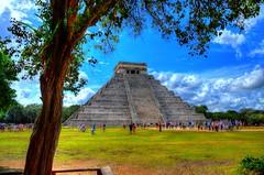 El Castillo or Temple of Kulkulkan (DSLEWIS) Tags: mexico ruinas ruins archaeology archaeological ancient mayan yucatan indian nativeamerican civilization pyramids pyramid kukulkan temple chichenitza hdr highdynamcirange