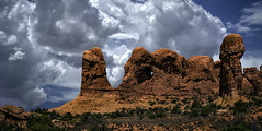 Elephant Rock Arches National Park (McKendrickPhotography.com) Tags: sky clouds archesnationalpark moab utah elephantrock