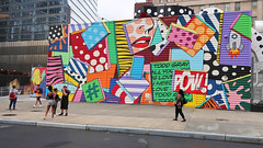 Todd Gray ... POW! (PDX Bailey) Tags: newyorkcity new york city urban eastcoast crowd people mass many colorful building architecture street photography photo picture color car tree road mural wall yellow red blue green art artistic artist