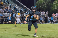 """PVHS v. Palatka-221 (mark.calvin33) Tags: football field sport ball """"high school"""" """"ponte vedra high pvhs block tackle rush run pass catch receiver blocker """"running quarterback fumble completion reception hike pitch snap """"friday night lights"""" fans stands kick """"end zone"""" """"nikon 2018 win athletics athletes """"night photography"""" """"sharks football"""" back d7100"""