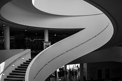 IMG_4153.jpg (creacog) Tags: stairs spiral quote blackandwhite curves museumofliverpool