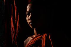 Novice Monk - Mohnyin, Myanmar (Maciej Dakowicz) Tags: fujifilmxseries fujifilmxt2 asia myanmar burma mohnyin kachin portrait monastery monk novice light