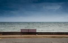 Too Cold!! (BGDL) Tags: lightroomcc nikond7000 bgdl landscape nikkor18105mm3556g seascape esplanade prestwick bench alone week37 weeklytheme flickrlounge