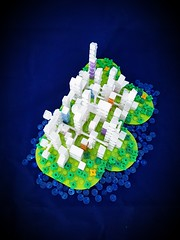 Cloudy Island MOC from above. (betweenbrickwalls) Tags: lego afol future scifi toys
