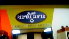 Supermarket sign - SS (Maenette1) Tags: recycling bottles sign jacksfreshmarket menominee uppermichigan signsunday flicker365 allthingsmichigan absolutemichigan projectmichigan