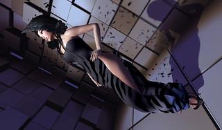 RAPTURE-Dress Demi-Raven