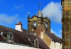 The Town Clock (Snapshooter46) Tags: clocktower townhall townclock sandstone dormerwindows chimneys weathervane slateroof alnwick northumberland cupola