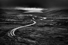 The Dark Fjord (galvanol) Tags: monochrome driving fjord mjoifjördur blackandwhite bw olivergalvan galvanol clouds austurland roadsoficeland nature landscape eastfjords iceland island