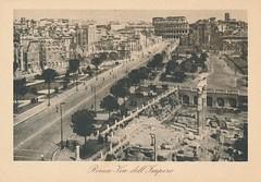 1944/1945 Rome Postcard (Stabbur's Master) Tags: postcard 1940s 1940sromepostcard 1940spostcard rome romanruins italy romanforum fororomano viadellimpero viadeiforiimperiali colosseum coliseum