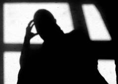 The Thinker (Padski1945) Tags: blackwhite blackandwhite blackwhitephotography blackandwhitephotography mono monochrome monochromephotography thethinker shadow shadows shadowplay