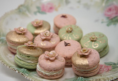 Engagement Macarons (Do The Macarona) Tags: macarons macaron frenchmacarons frenchmacaron vintage antique gold gift dothemacarona patisserie dessert french parisian