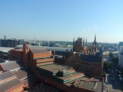 British Library and St. Pancras Station, from Pullman London St. Pancras Hotel, Euston Road, Camden, London (2) (f1jherbert) Tags: lgg6 lgelectronicslgh870 lgelectronics lg g6 lgh870 electronics h870 londonengland londongreatbritain londonunitedkingdom greatbritain unitedkingdom london england gb uk great britain united kingdom