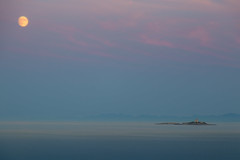 The lonely island (czmyras) Tags: moon fullmoon sea adriatic croatia orebic view island