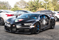 Evil (Hunter J. G. Frim Photography) Tags: supercar monterey carmel car week 2018 carweek bugatti chiron w16 awd french hypercar black carbon rare wing coupe limited bugattichiron