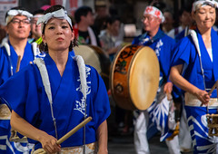 Japanese musicians during the Koenji Awaodori dance summer street festival, Kanto region, Tokyo, Japan (Eric Lafforgue) Tags: adults artscultureandentertainment asia awadancefestival awaodori capitalcities celebration colorimage cultures dancing drum event groupofpeople headwear horizontal japan japan18419 japaneseculture kantoregion koenjiawaodori koenjiren men music night outdoors performance performancegroup performer photography ren street tokyo traditionalclothing traditionalfestival traveldestinations women yukata jp