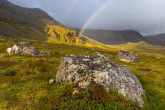 Rainbow on Iceland (floriax75) Tags: iceland island rainbow regenbogen nature natur reykjavik colour weather esja north felsen rock fels sunlight sonnenlicht wetter berge mountains rain regen moos moss light licht