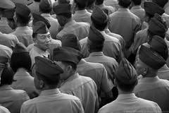 Filipino Veterans (Bong Manayon) Tags: bongmanayon pentaxkx pentax kx edsa blackandwhite bw uniform quezoncity philippines smcpda55300mmf458ed bestportraitsaoi