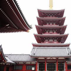 pagoda, Sensō-ji, Asakusa, Tokyo, Japan (Plan R) Tags: pagoda senso tokyo shrine temple asakusa leica m 240 summilux 35mm