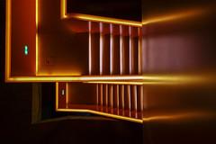 Neon Staircase I (trsl1234) Tags: room staircase neon abstract escalier interior escalante