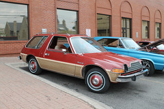 Woodie (Flint Foto Factory) Tags: flint michigan urban city summer august 2018 home town hometown annual backtothebricks car festival downtown 1978 1979 1980 amc americanmotors pacer dl wagon wood applique woody woodie burgundy color fuzzy dice fourthst brushalley threequarter front