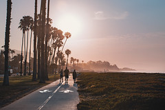 East Beach (hitmanfre1) Tags: california socal southerncalifornia beach summer cali sun sunset sunrise eastbeach palm palmtree tree path road sand fog haze nikon d7200 santa barbara santabarbara boardwalk red blue