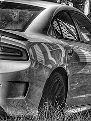 Not Quite What It Seems... (Fojo1) Tags: cars blackandwhitephotography hdr