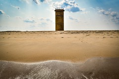 The tower (Thirsty Hrothgar) Tags: waves surf froth delaware tower worldwarii nazis germans uboat submarine enemy navy lookout naval