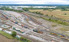 66768 passing Basford Hall (robmcrorie) Tags: cheshire yard hall basford crewe gbrf cement avonmouth clitheroe class 86 66 47 37 66768 70020 56113 56090 train rail railway railfan enthusiast