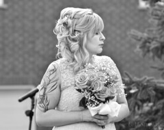 Like a Queen (c.m.studios) Tags: backyardwedding schomberg likeaqueen beautiful sister bridesmaid wedding focalpoint composition blackandwhite portrait