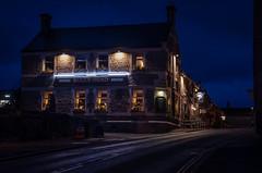 THE BULLS HEAD (neil 36) Tags: night nighttimeimage publichouse lighting road sign windows stonewalling cast castleton peak district inn cross st hope valley derbyshire s338wh pub village england