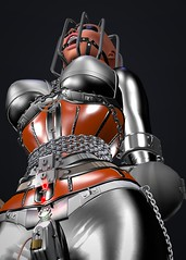 Q_015 (susansq14) Tags: secondlife second life bondage heavy rubber latex mask gag gagged susan saariquandt prisoner rubberslave bound indoor heavyrubber gearfetish rubberbondage insex fetisheyes pvc plastic leather total immobilization sensory deprivation rainwear outdoor