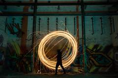 Circle of Sparks (vanessa_macdonald) Tags: sparks sparklers spinning night photography nightphotography longexpo longexposure urbex urbanexploring abandoned lights lightpainting lpwa canon canada vancouver island