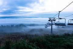 Ski lift waiting for winter in Autumn 2 (VisitLakeland) Tags: finland lakeland tahko tahkonrinteet aamu auringonnousu luonto maisema misty morning nature outdoor scenery sumu