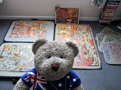 Psssst! (pefkosmad) Tags: zoffany falcon complete secondhand 3000pieces art fineart painting tribuneoftheuffizi jigsaw puzzle hobby leisure pastime sneaky secret photo tedricstudmuffin teddy ted bear animal toy cute cuddly fluffy plush soft stuffed selfie sealedwhenweboughtit secondattempt
