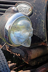 Ghostly Headlamp - 1936 Ford Pickup Detail (Brad Harding Photography) Tags: ghost hauntingly headlamp headlight antique ford fordmotorcompany ratrod rust rusty rustic pickup pickuptruck truck greaserama tracey missouri plattecountyfairgrounds carshow
