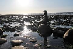 On the beach (Andrew 62) Tags: pebblestack dusk rocks pebbles beach coast llwyngwril gwynedd cymru wales reflection