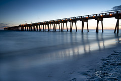 Dusk is coming (by REIZOR) Tags: beach dusk florida pier summer unitedstates アメリカ ビーチ ピア フロリダ 夕暮れ 桟橋 panamacitybeach パナマ・シティ・ビーチ