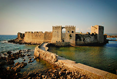 Methoni castle (jimiliop) Tags: castle wall sea curve path road history medieval methoni greece